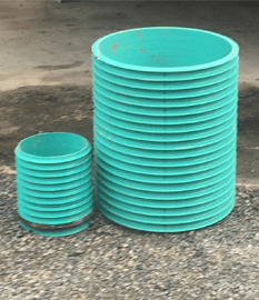 12 and 24 Inch Ribbed Riser Pipe